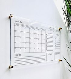 Office Organization At Work, Organization Station, Family Command Center, Command Centers, Acrylic Board, Minimalist Office, Printable Calendar Template, Dry Erase Board, Clear Acrylic