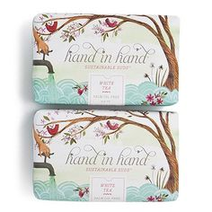 For every bar purchased, Hand in Hand will donate a bar to help save a child's life. Buy a bar, give a bar. Hand in Hand.    For every bar purchased, Hand in Hand will save 50 square feet of rainforest.    For every bar purchased, Hand in Hand will make a donation to fund micro-credit loans to help alleviate poverty world-wide.