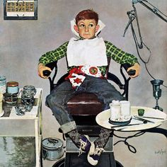 """Refurbished Marmont Hill - """"In the Dentist's Chair"""" by Kurt Ard Painting Print on"""