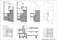 Herman Hertzberger // Diagoon Houses // floor plan, elevation, section // @etsavega