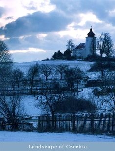 Winter in the country, Czechia