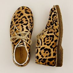 Girls Leopard JCrew boots. Could I have those is my size, please :)