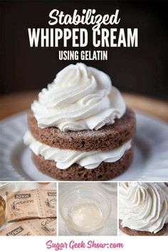 Stablized Whipped Cream, Stabilized Whipped Cream Frosting, Making Whipped Cream, Whipped Frosting, Homemade Whipped Cream, Recipes With Whipping Cream, Cream Recipes, Cupcakes, Cupcake Cakes