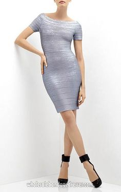 Cheap Metallic Silver Herve leger wholesale from China bandage dresses wholesale shop. Made of Rayon. cheap price, fast shipping.