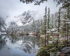 Gorgeous! MT: @ErikThePhotog An idyllic scene from Dream Lake, @RockyNPS #RMNP