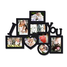 "BEST SELLER! Adeco Decorative Black Wood ""I Heart You"" Wall Hanging Collage Picture Photo Frame, 8 Openings, Various Sizes, Selected Gift, Housewarming, Wedding Adeco http://www.amazon.com/dp/B00JWZD1ZK/ref=cm_sw_r_pi_dp_G40xvb00Z1ZZS"