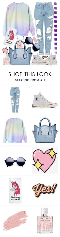 """Sin título #880"" by leonormoral on Polyvore featuring moda, Topshop, Converse, Big Bud Press, Miss Selfridge, Anya Hindmarch, Jane Iredale y Jimmy Choo"