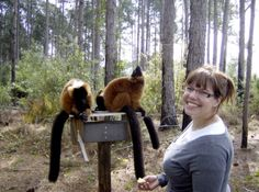 LCF Education Insstructor Alex w lemurs