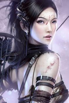 Fantasy art. Women warriors.