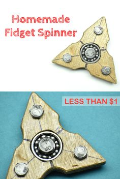 Do you get stress out while working or you fidget a lot when you are sitting idle? If yes, then you definitely need this homemade fidget spinner which can help you in overcoming your stress and can also acts as a great toy for killing time.