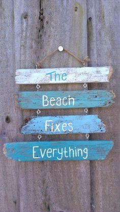 DIY Painted Driftwood Sign !