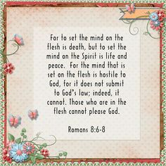 Today's Verse of the Day: Romans 8:6-8 🌻