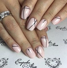 Geometric nail art designs look beautiful and chic on short and long nails. Geometric patterns in any fashion field are the style that fashionistas dream of. This pattern has been popular in nail art for a long time, because it is easy to create in n Manicure Nail Designs, Pink Nail Designs, Short Nail Designs, Diy Nails, Cute Nails, Pretty Nails, Diy Manicure, Smart Nails, Manicure Ideas