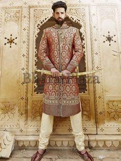 ideas indian bridal wear men ux ui designer for 2019 Wedding Dresses Men Indian, Indian Wedding Wear, Indian Dresses, Indian Outfits, Red Wedding, Wedding Ideas, Indian Groom Wear, Indian Attire, Indian Wear