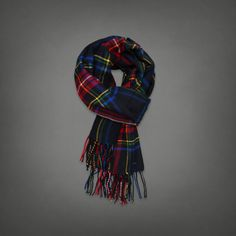 Classic Plaid Scarf | Abercrombie.com | Check out our Pin To Win Challenge at http://on.fb.me/UfLuQd