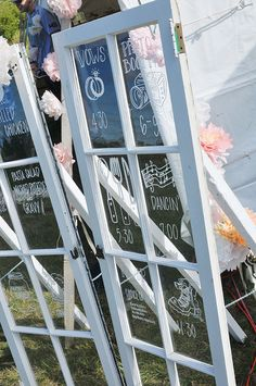order of events on old window frames by gargarino921, via Flickr, via Offbeat Bride 타짜카지노 MD414.COM 타짜카지노