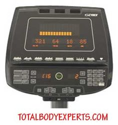 Cybex 750AT contol panel includes advanced features not found on most ellipticals.