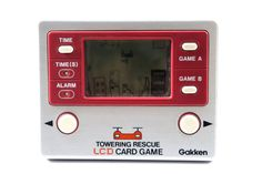 80s Retro Gakken LCD Game Watch Towering Rescue Made in Japan Great Condition #Gakken