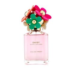 Marc Jacobs - Daisy Eau So Fresh Delight: A floral fruity fragrance for modern women. Crisp, sweet, bright, juicy, exotic & enlivening. Top notes of blood orange, pink pepper & white tea. Middle notes of Tiare Tahiti, violet & raspberry. Base notes of apricot skin, musk & amber. Launched in 2014 as a limited edition. Suitable for spring or summer wear.