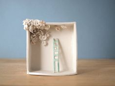 ladder and blooming ceiling. porcelain box by villarrealceramics
