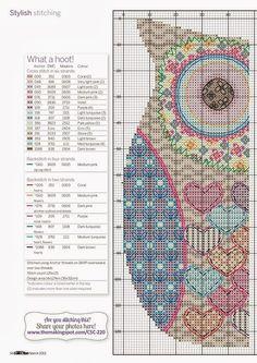 Mes Ouvrages de Dames: Gufo patchwork