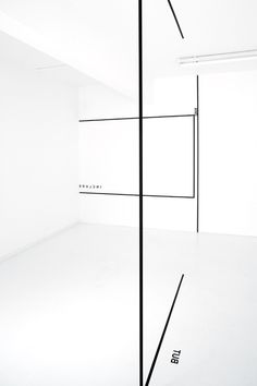Peter Downsbrough - White-out Studio