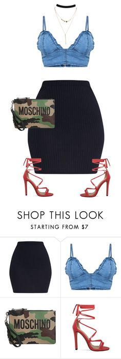 """""""Untitled #494"""" by styleswavington ❤ liked on Polyvore featuring Moschino"""