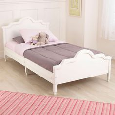 When your kids get too old to use a toddler bed, it's time for a serious upgrade. That's where KidKraft<br/> beautiful Raleigh Twin Bed comes in. This sturdy furniture piece will last for years. Toddler Twin Bed, Girls Twin Bed, Bedroom Furniture, Bedroom Decor, Furniture Nyc, White Furniture, Furniture Stores, Furniture Ideas, Diy Rangement