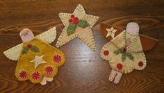 Free Wool Felt Applique Patterns | primitive wool applique patterns - Bing Images | christmas crafts