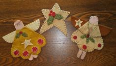 Free Wool Felt Applique Patterns | primitive wool applique patterns - Bing Images | christmas crafts
