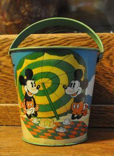 Mickey Mouse Sand Pail http://www.rubylane.com/item/612961-S1133/Mickey-Mouse-Sand-Pail#.T3iCCS7dOP4.twitter via @rubylanecom
