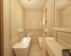 Corner Bathtub, Alcove, Interior Design, Bathroom, House, Behance, Gallery, Check, Nest Design