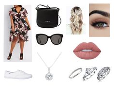 """""""Going on a date in the park"""" by sarapotter98 ❤ liked on Polyvore featuring Charlotte Russe, Lancaster, Lime Crime, Bling Jewelry, Gentle Monster, EWA, Spring, outfit, ootd and polyvorefashion"""