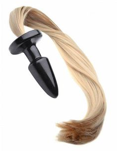 This long, sexy pony tail is blonde, smooth, and silky, for movement and fullness with every swing of their hips. The plug is slick and tapered for easy insertion, with a classic shape designed to stay in place. The flared base makes sure it does not go in too far, and makes for easy removal. Brush, flick, and style the blonde strands. They are a great accent and perfect for pony play.<br /><br /> Measurements 22 inches in total length, 3.5 inches insertable, 1.45 inches in diameter…
