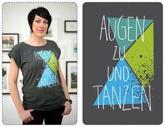 """Fair Trade Shirt """"Tanzen"""" // Fair trade shirt by Süße Dinge via DaWanda.com"""
