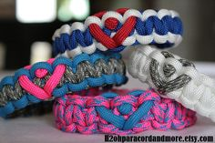 Heart love 550 paracord bracelet military by H2ohparacordandmore, $7.50