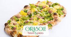 Pinsa Broccoli e Salsiccia  Mozzarella fior di latte, broccoli, patate, salsiccia