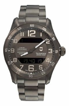 Victorinox Swiss Army Men's 241300 Dive Master Gunmetal Dial Watch Victorinox Swiss Army. $1050.00. Water-resistant to 330 feet (100 M). Stainless-steel case. Case diameter: 45 mm. Quartz movement. Antireflective-sapphire crystal. Save 12% Off!