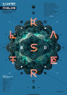 Cluster party poster by Artyom Tarasov, via Behance