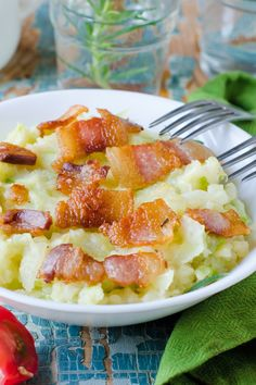 Colcannon - Irish Mashed Potatoes with Cabbage and Bacon Recipe