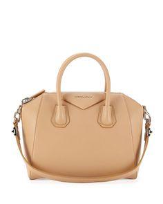 Givenchy Antigona Sugar Satchel Bag, Light Beige