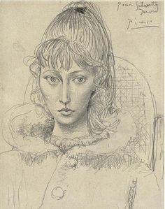"""Picasso - """"Portrait de Sylvette David 01"""", 1954"""