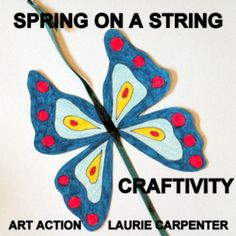 """""""SPRING ON A STRING"""" AND EASY-ART CRAFTIVITY - TeachersPayTeachers.com A fun spring art activity that can be completed easily in the classroom, home school, or art room. It provides a fun project for quiet, independent seat work. PATTERNS PROVIDED."""