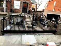 Wrought Iron Driveway Gate Installation Wrought Iron Driveway Gates, Home Appliances, Design, House Appliances, Kitchen Appliances, Appliances, Design Comics