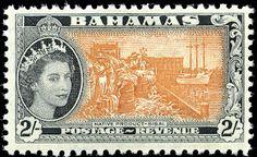 2s. Orange-brown & Black - SG212 Crown Colony, Vintage Stamps, King George, Queen Elizabeth Ii, Stamp Collecting, Ephemera, Nativity, Vintage World Maps, Poster