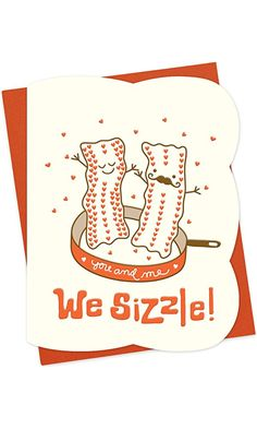 Bacon Letterpress Love Card by Night Owl Paper Goods Best Price