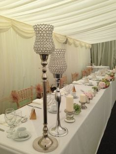 Crystal Hurrican HIRE / Candle Centerpieces 65/80 cm