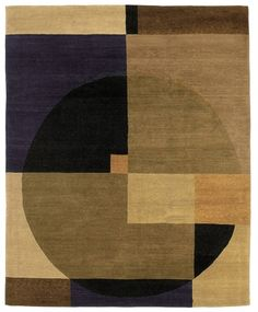 Tufenkian Rugs present the Compass Autumn contemporary rug part of the Setana collection Embracing a timeless geometric design and a pure wool construction this quality hand knotted piece is offered in a range of colors