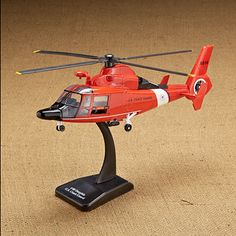 Augusta Dolphin HH 65C US Coast Guard Die-Cast Helicopter - Sporty's Wright Bros