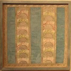 A panel of 18th century French silk , using both hand woven brocade and damask techniques. Worked with silks and silver thread. Recently framed.